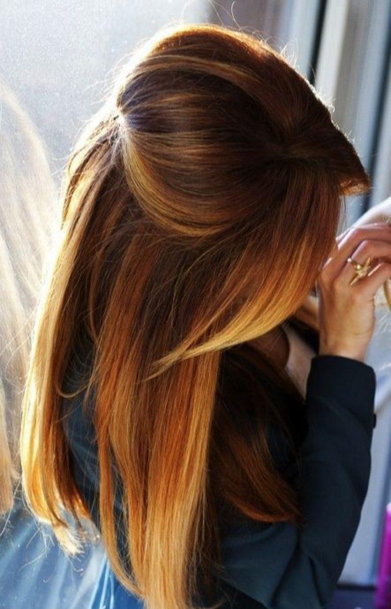 Омбре на темные волосы ютуб