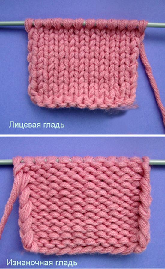 Вяжем шарф спицами лицевой