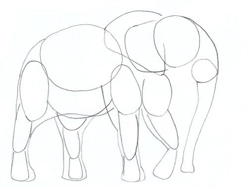 Рисунок слоника без хобота
