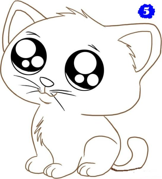 картинки рисовать котят
