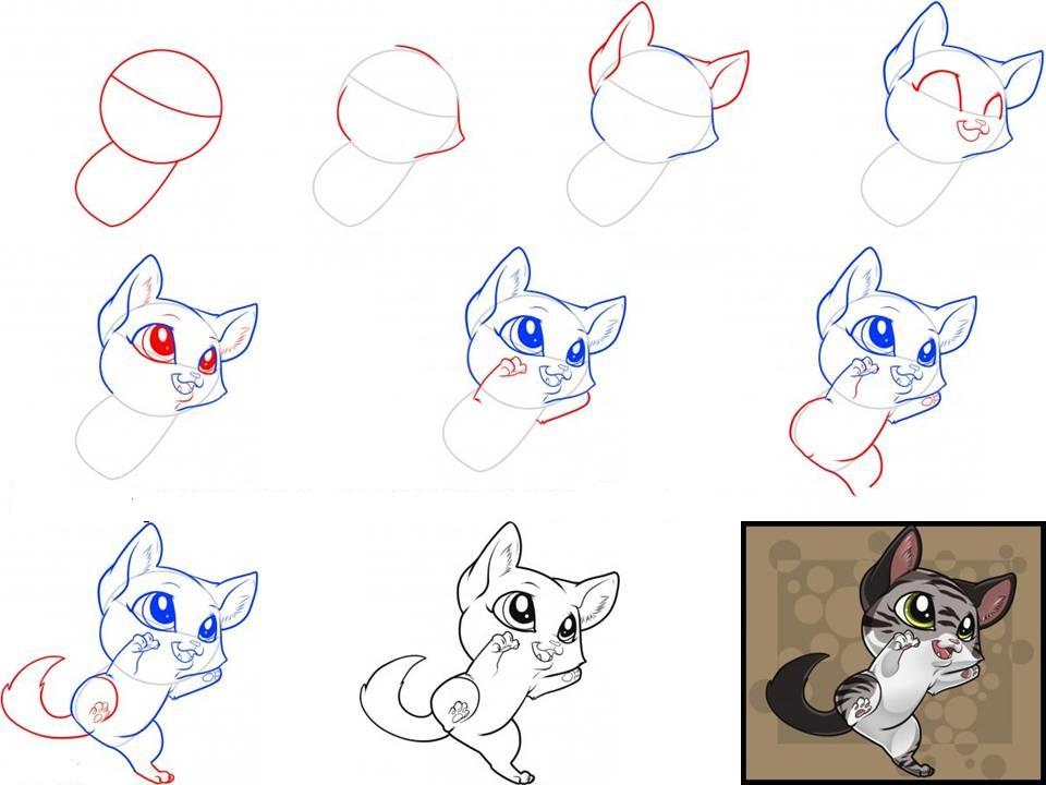 Красивые рисунки как рисовать котенка