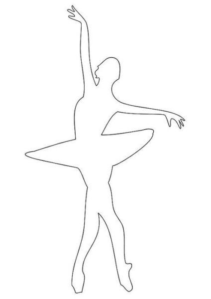 Как сделать из бумаги балерину снежинку шаблон
