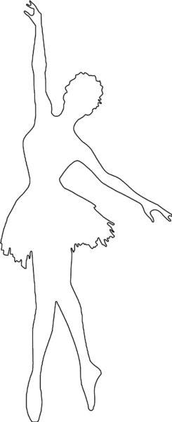 новогодние балерины из бумаги шаблоны