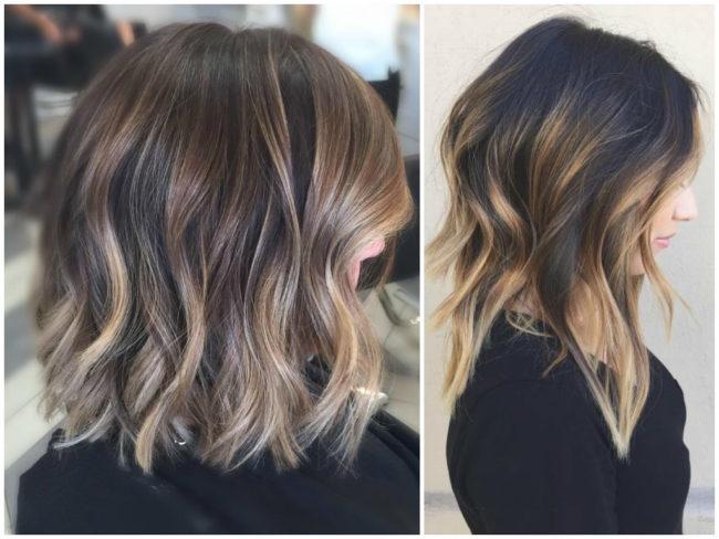 Омбре на натуральные волосы
