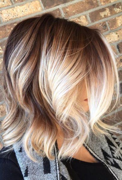 омбре на каре светлые волосы фото