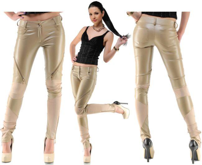 Кремовые брюки женские с чем носить 180