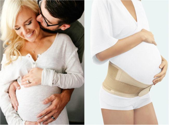 Когда начинать носить бандаж при беременности