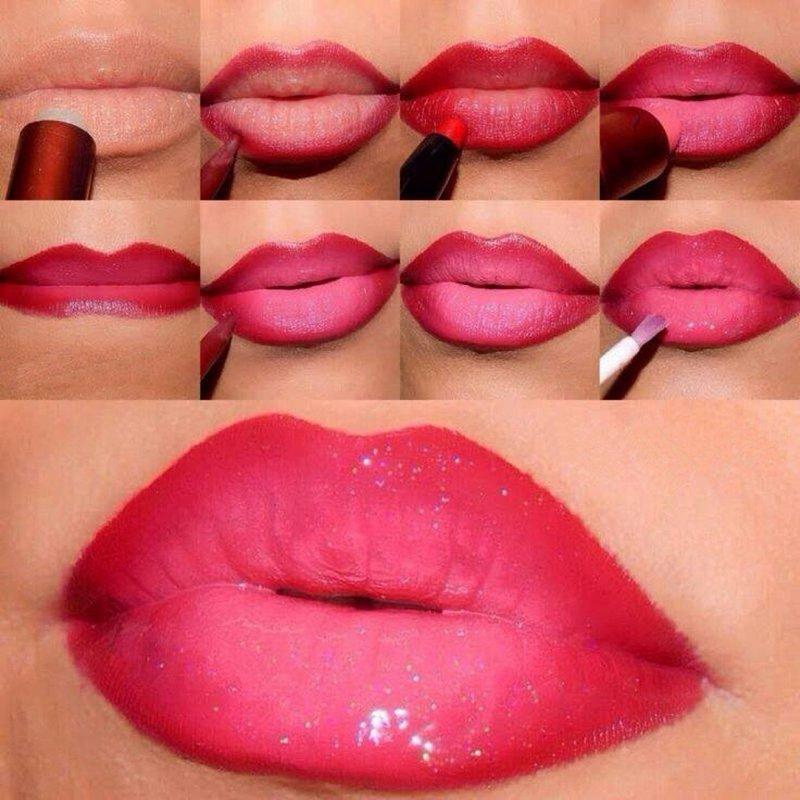 Как сделать так чтобы губы были розовыми