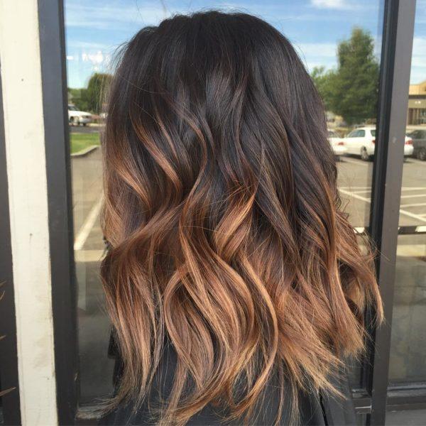 Омбре на темно-русые волосы фото