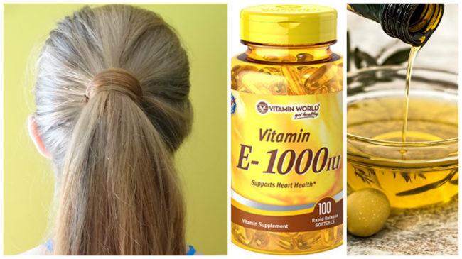 Укрепить волосы витамин е