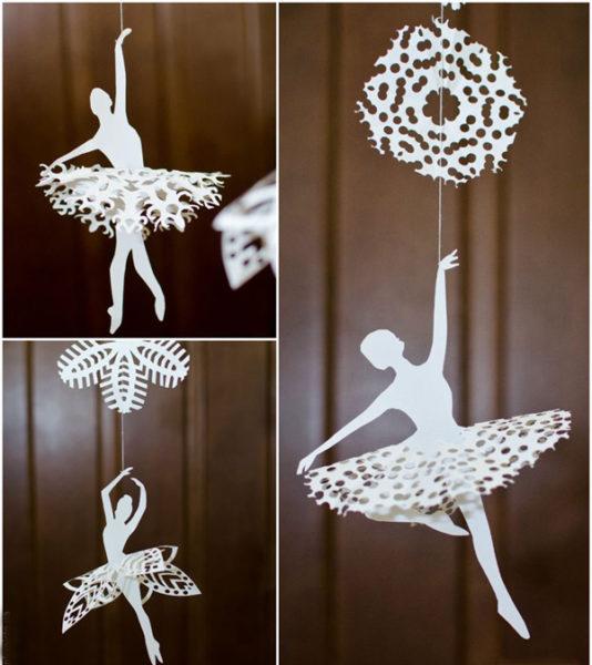 Как сделать новогоднюю балерину