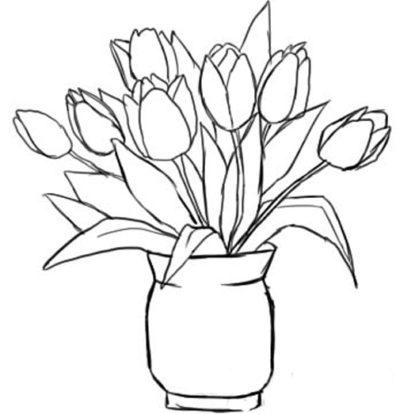 Нарисовать арку с цветами
