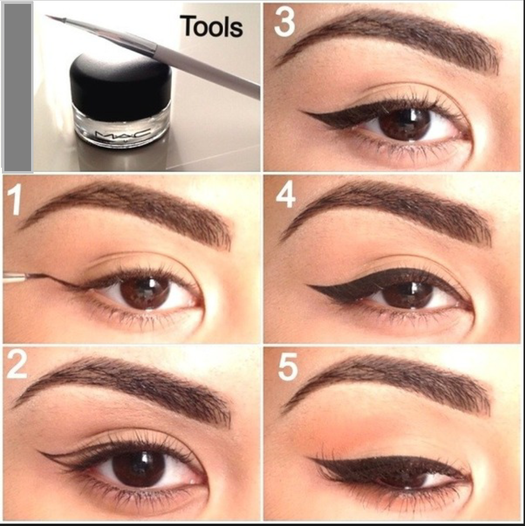 Wing eye makeup