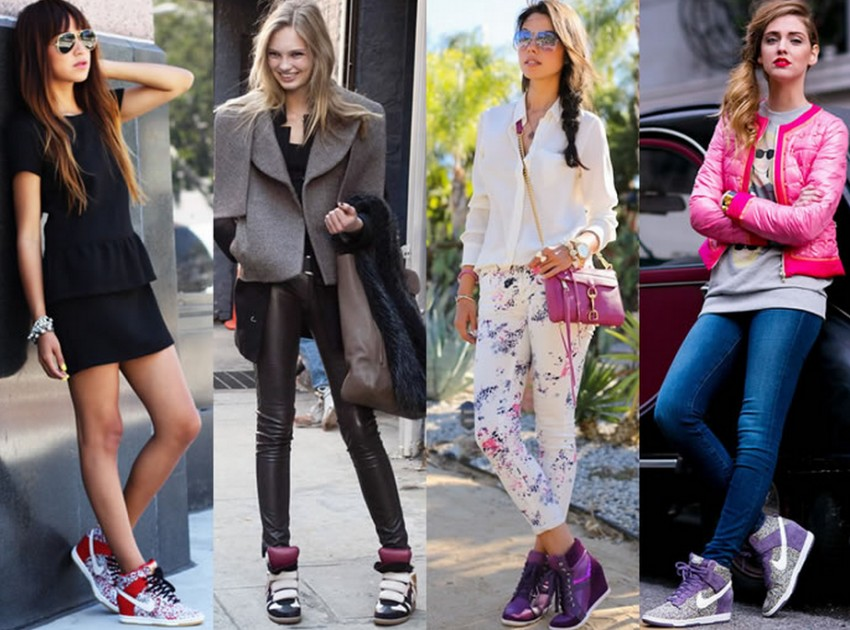 Женские кроссовки с чем носить
