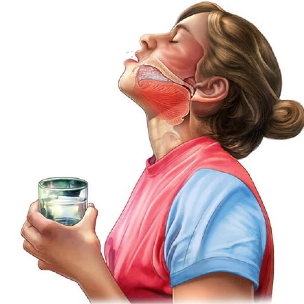 Как сделать солевой раствор для промывания рта