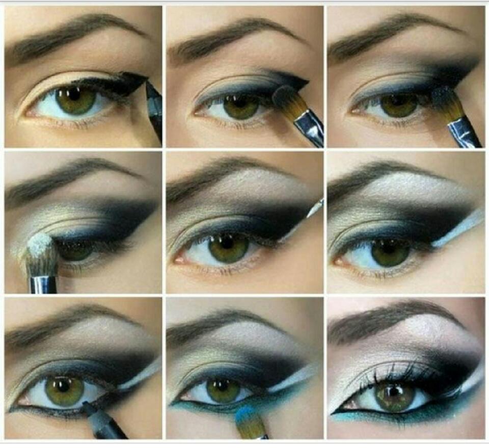 Индийский макияж для голубых глаз пошаговое