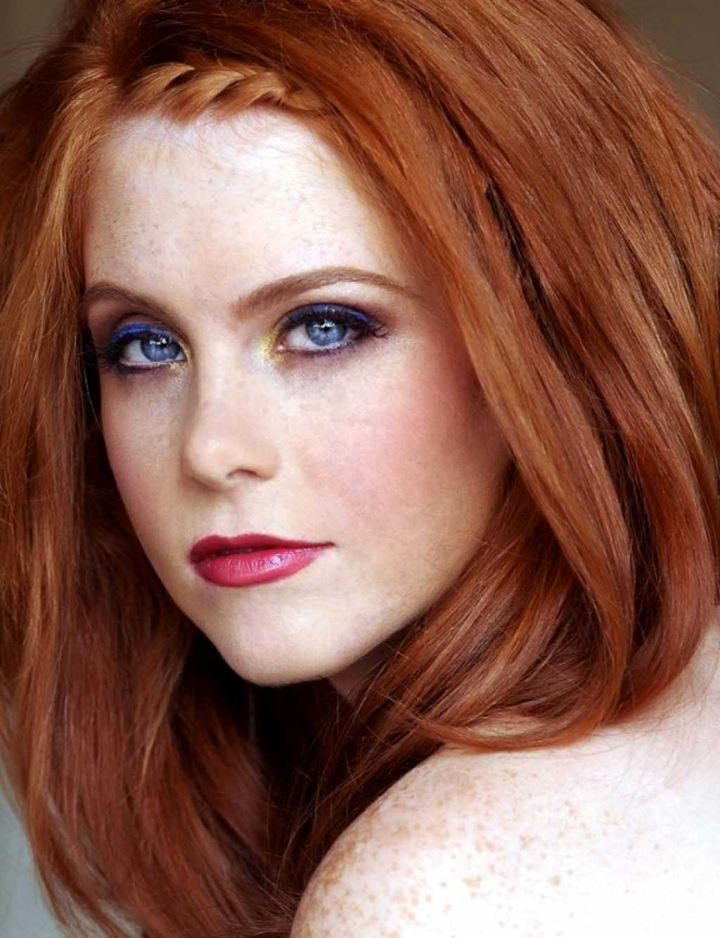 Серый и рыжий цвет волос
