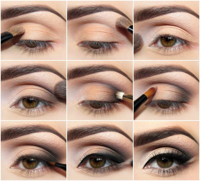 Как правильно наносить тени на веки пошагово для голубых глаз