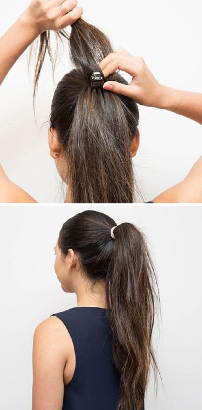 Красивый хвост для длинных волос как сделать