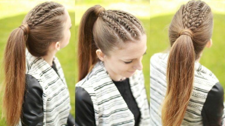 Как сделать косичку одну за волосами 685