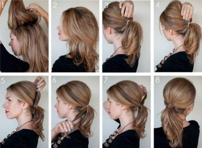 Как сделать красивый хвост из волос коротких