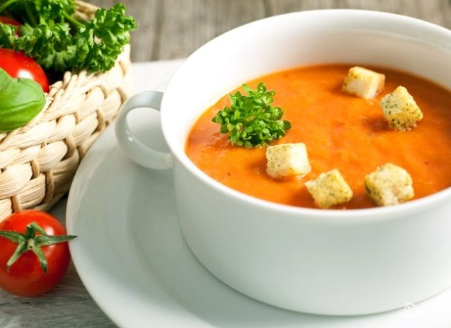 как приготовить томатный суп в домашних условиях пошаговый