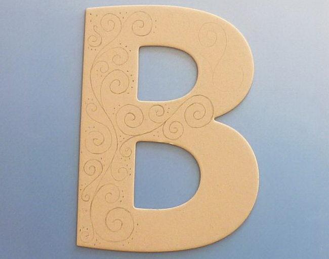 Объемные буквы своими руками схемы 99