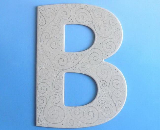Объемные буквы своими руками схемы 16