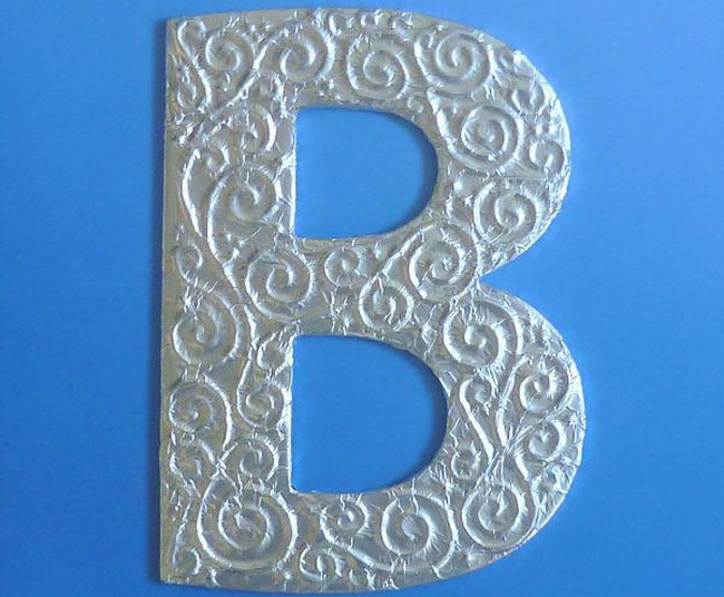 Объемные буквы своими руками схемы 53