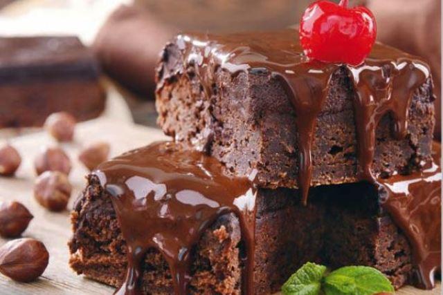 Брауни с творогом и вишней - пошаговый рецепт с фото
