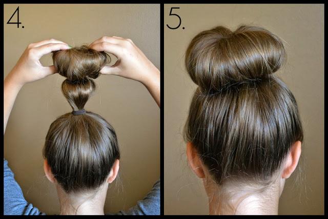 Как сделать объемную гульку из волос фото 987