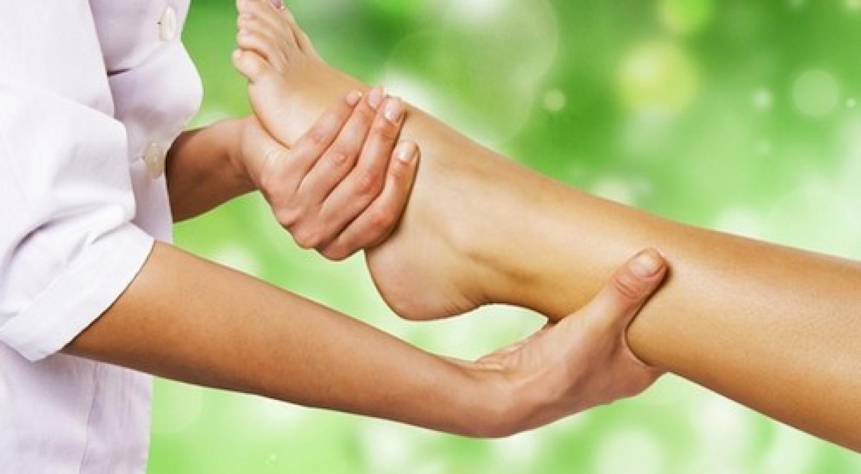 Схема массажа стоп ног