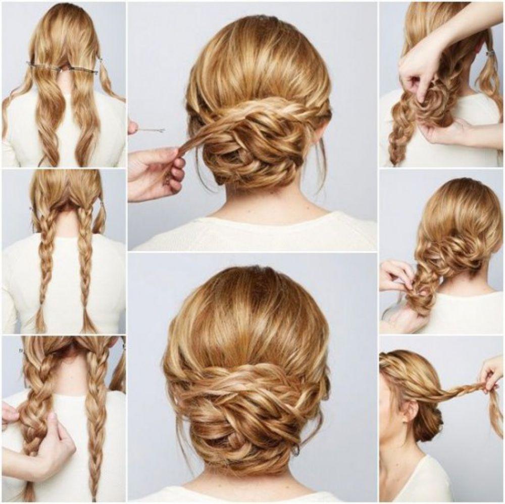 Прически на длинные волосы своими руками пошаговое фото для девочек фото 957
