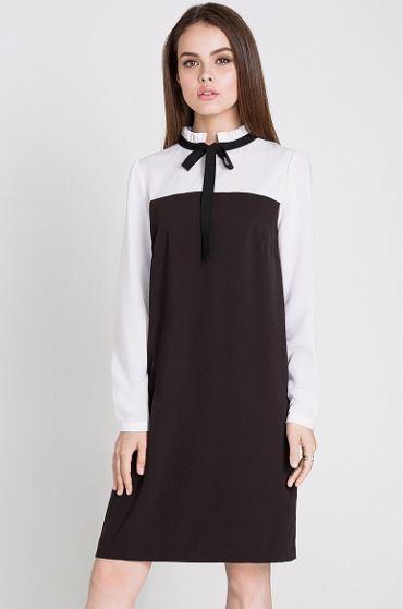 a619716e5d9e887 Это простое и актуальное молодежное платье в стиле кэжуал, дополненное  модным бантом на шее, прекрасно впишется в базовый гардероб и станет  незаменимой ...