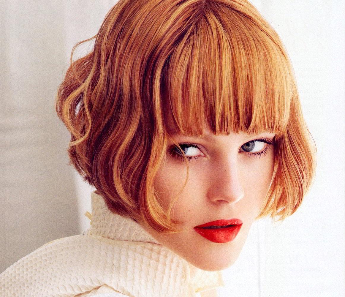каре на короткие волосы с челкой фото любезного