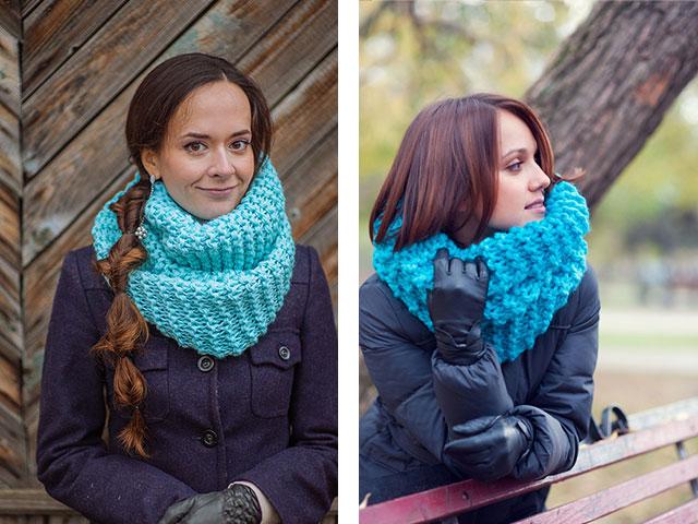 Как связать шарф снуд спицами. Cнуд спицами схемы вязания.
