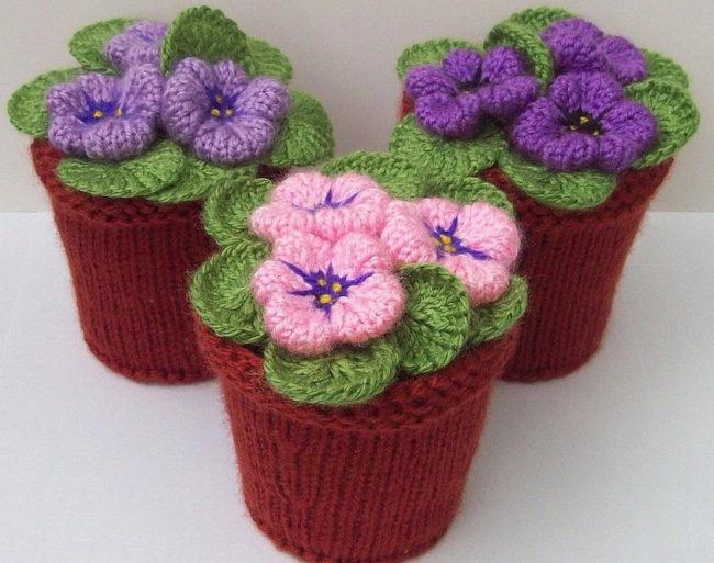 как связать цветок крючком или спицами вязание цветов схема