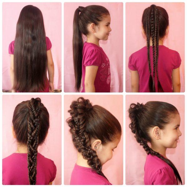 Детская прическа длинные волосы своими руками фото 493