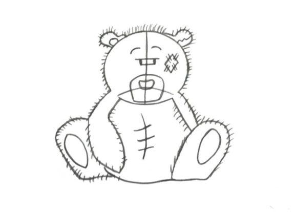 Как нарисовать открытку мишка тедди