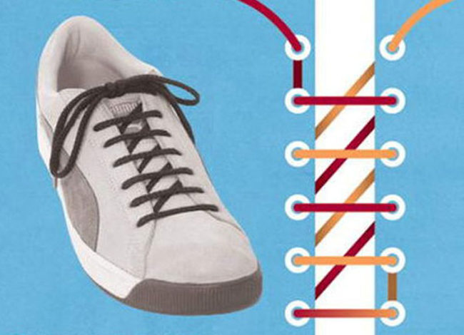 2d79b7275 Как можно шнуровать шнурки на кроссовках — способы, схемы. Как ...