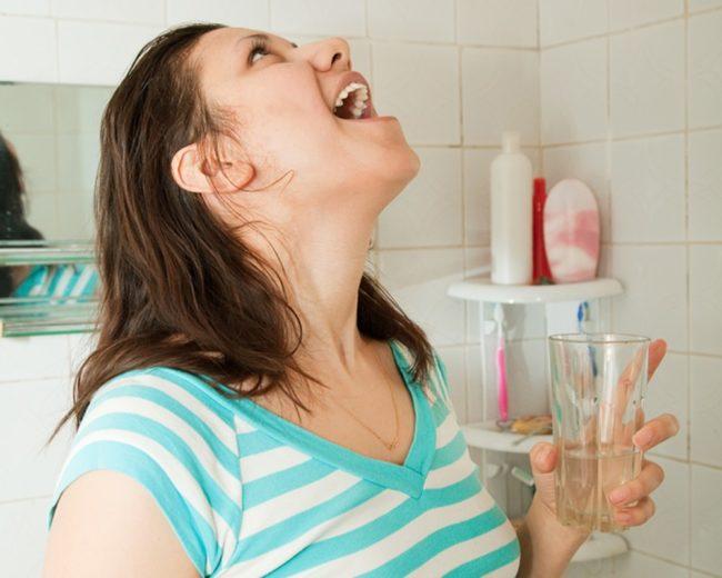 Как приготовить содовый раствор для полоскания рта