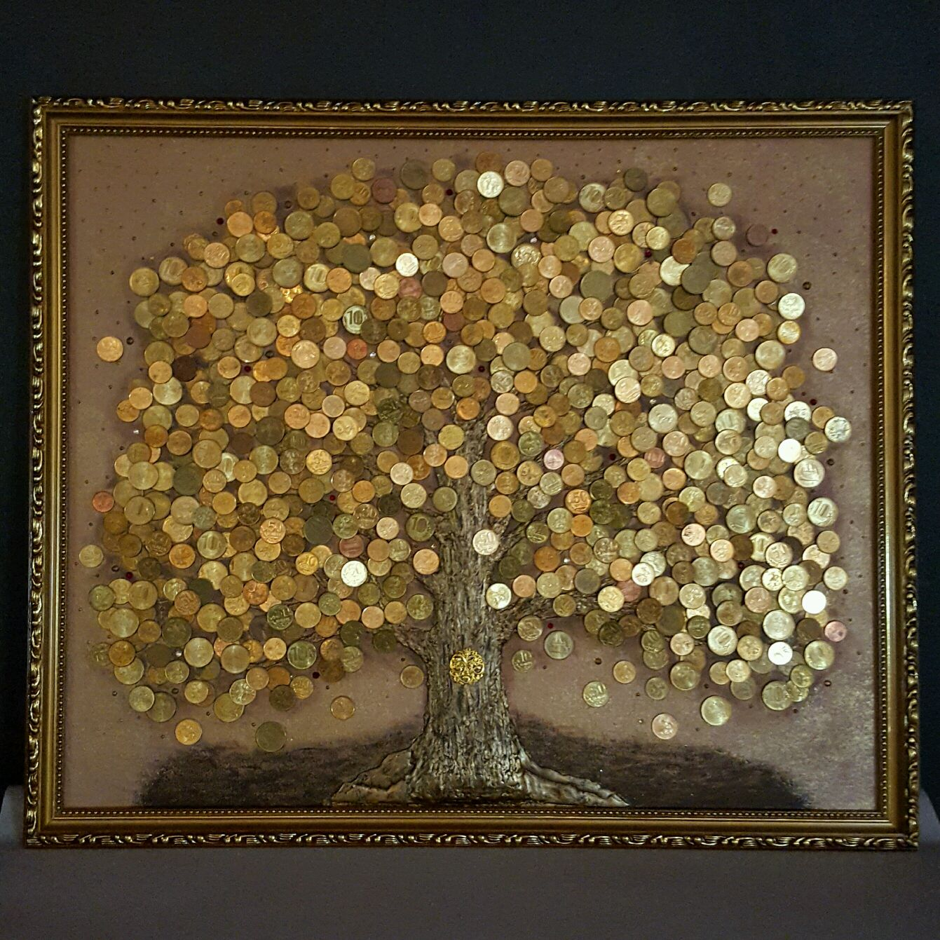 денежное дерево картинка из денег своими руками