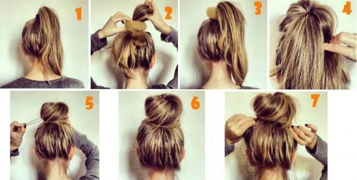 Как сделать пучок на голове фото фото 526