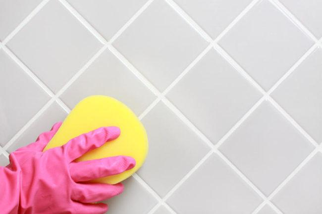 как почистить кафель