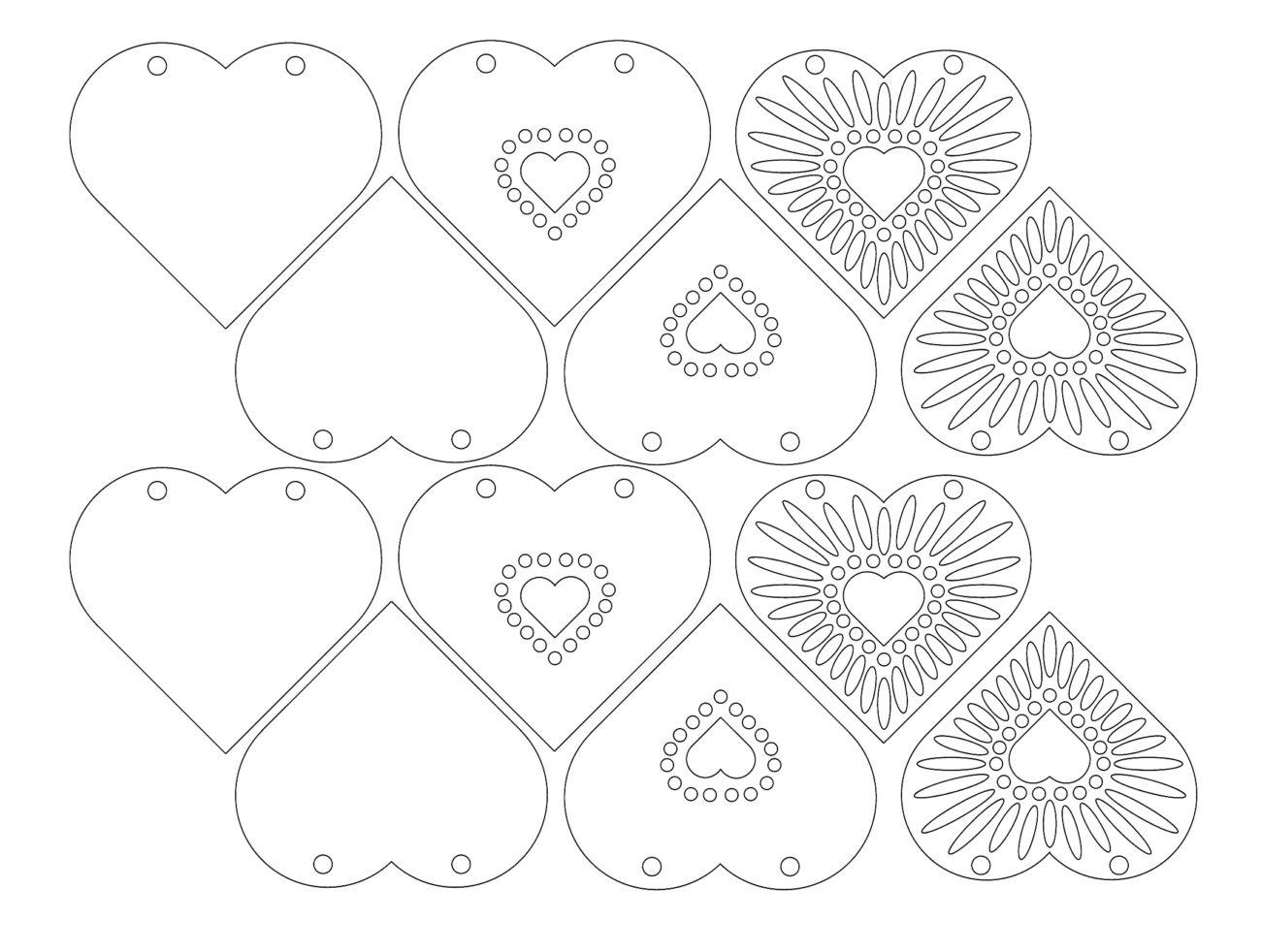 Открытка валентинка своими руками из бумаги шаблоны, поздравление