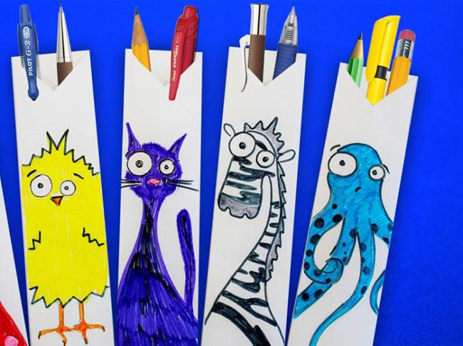 maxresdefault-7-650x486 Как сделать пенал для школы своими руками. Как сделать пенал из бумаги, из ткани, из картона, из фетра. Как самому сделать пенал для ручек и карандашей. Как сделать пенал для кукол