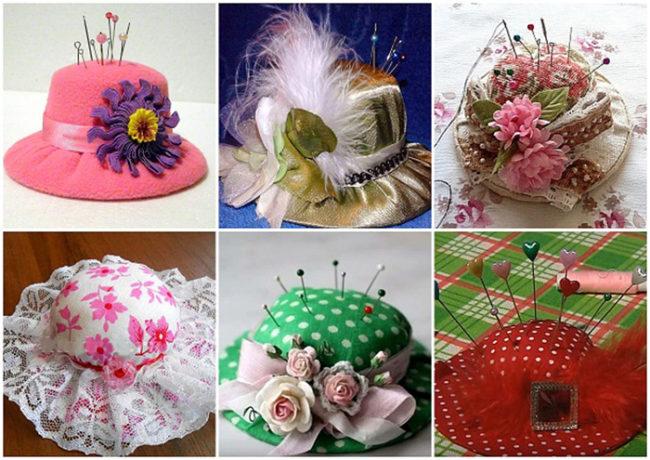 Игольницы шляпки своими руками фото