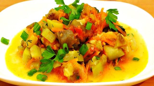 овощное рагу слоями рецепт с кабачками и баклажанами