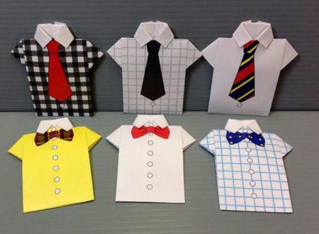 bc964df3759f71a Как сделать поделку рубашку из бумаги своими руками поэтапно с фото. Как  сделать рубашку из бумаги в технике оригами — схема
