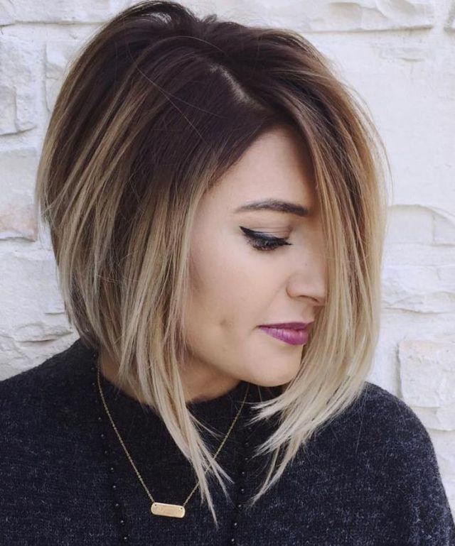 омбре на короткие волосы фото